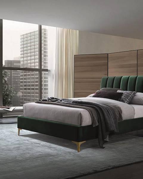 Zelená posteľ Signal