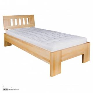 Drewmax Jednolôžková posteľ - masív LK183  90 cm buk