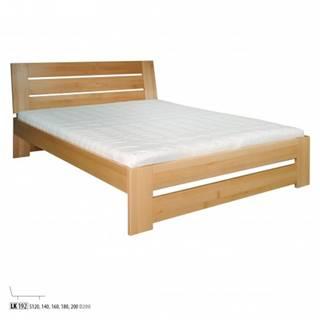 Drewmax Jednolôžková posteľ - masív LK192   120 cm buk