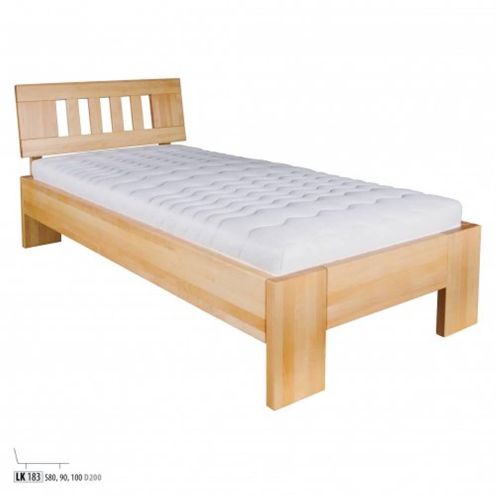 Drewmax Drewmax Jednolôžková posteľ - masív LK183   100 cm buk