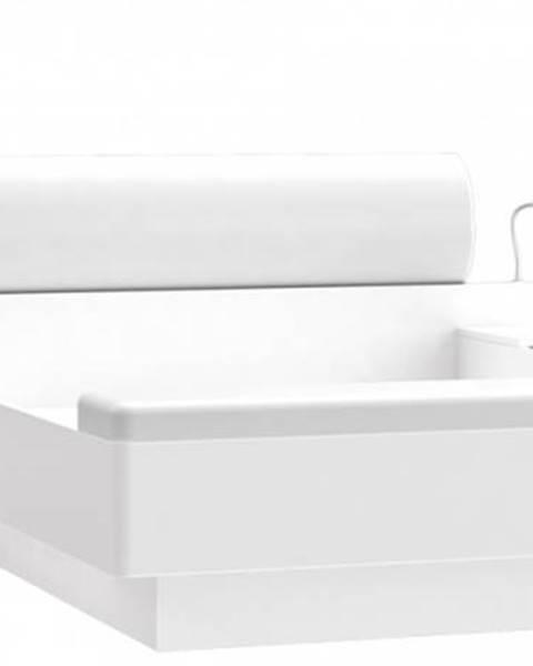 Biela posteľ Forte