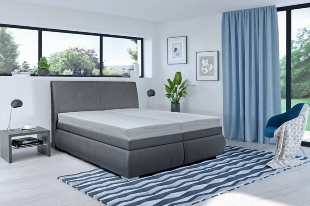 OKAY nábytok Čalúnená posteľ Arte 180x200, vrátane matracov, pol. roštu a úp