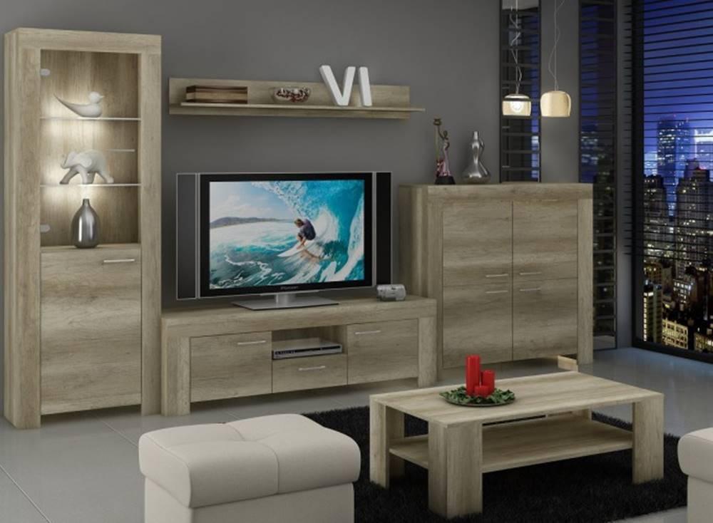 OKAY nábytok Sky - Obývacia stena, komoda, RTV stolík, stolík