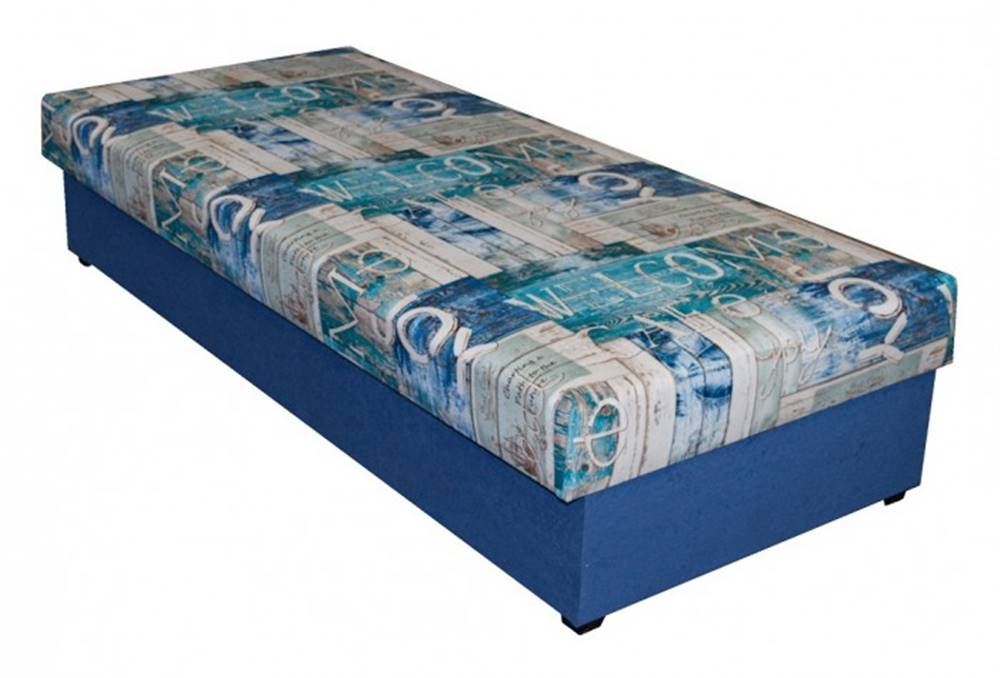 OKAY nábytok Váľanda Dana 90x200, modrá, vrátane úp