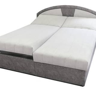 Polohovacia posteľ ANETA sivá, 180x200 cm